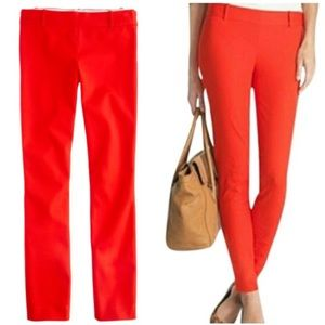 ❗️J. Crew Minnie Stretch Red Coral Pants MSRP $118